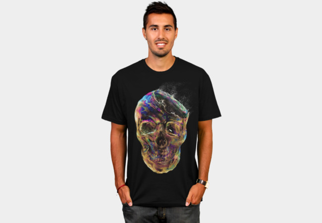Bubble Skull T-Shirt - Design By Humans