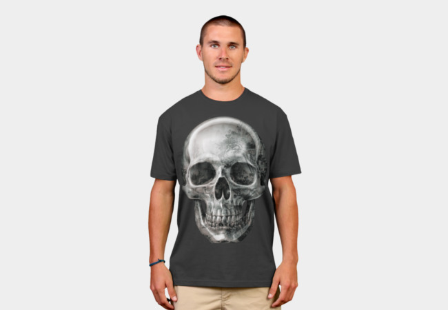 Texture Skull T-Shirt - Design By Humans