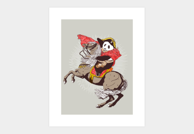 The Panda's Ride Art Print - Design By Humans