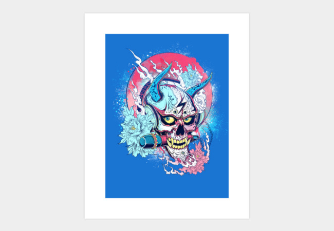 Rock and Roll - Hannya Art Print - Design By Humans