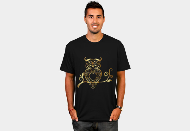 Golden Owl T-Shirt - Design By Humans