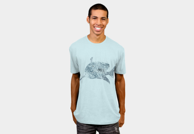 Swirly Shark T-Shirt - Design By Humans