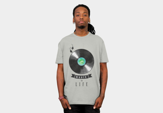 music is life T-Shirt - Design By Humans