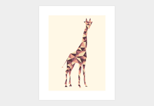 Giraffe Art Print - Design By Humans