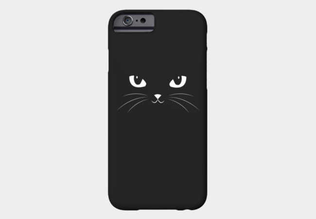 Cute Black Cat Phone Case - Design By Humans