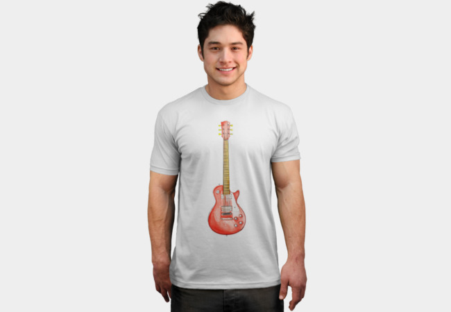 Watercolour Guitar Sketch T-Shirt - Design By Humans