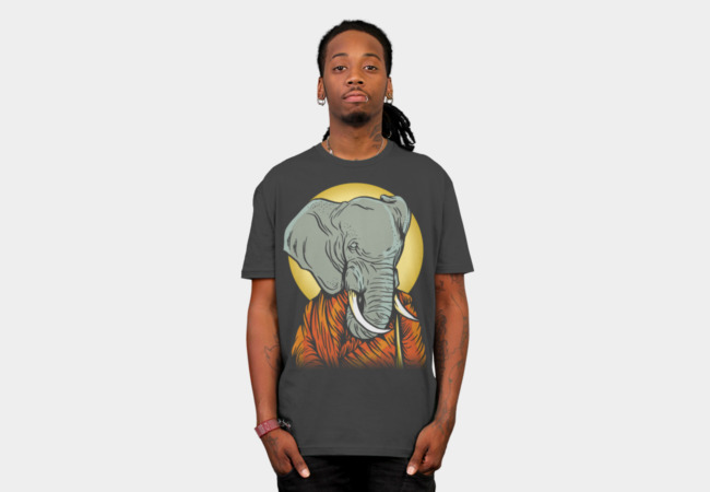 The Enlightened Elephant T-Shirt - Design By Humans