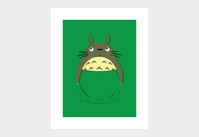 Totoro in a pocket Art Print - Design By Humans