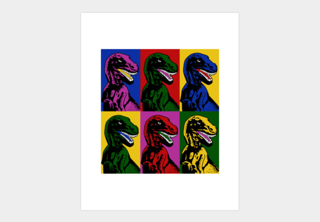 Dinosaur Pop Art Art Print - Design By Humans