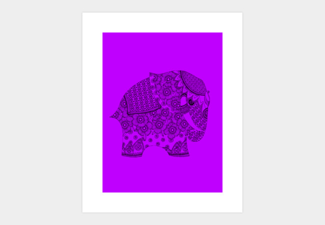 ORNATE ELEPHANT Art Print - Design By Humans