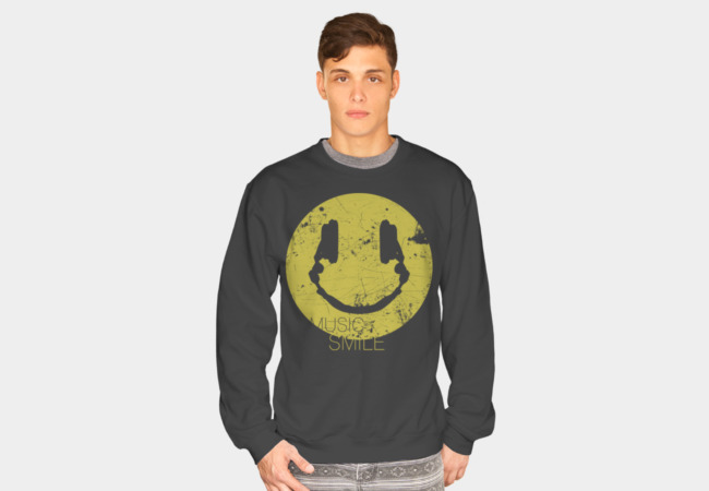 Music Smile Sweatshirt - Design By Humans