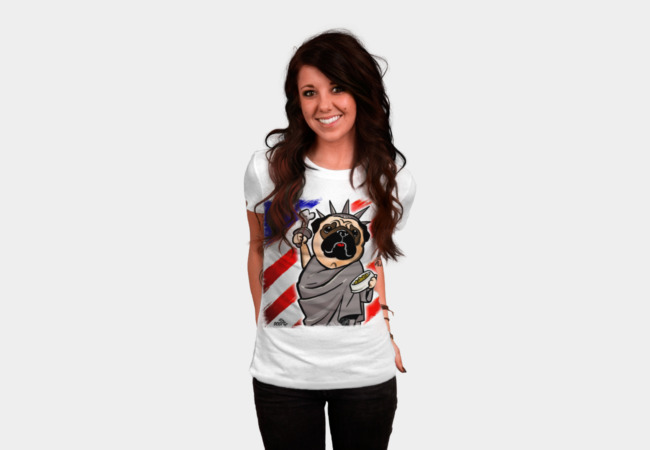 Independence Day Pug T-Shirt - Design By Humans