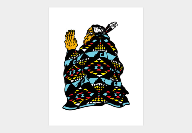 Blanket Man Art Print - Design By Humans