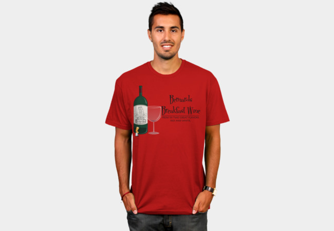 Breakfast Wine T-Shirt - Design By Humans