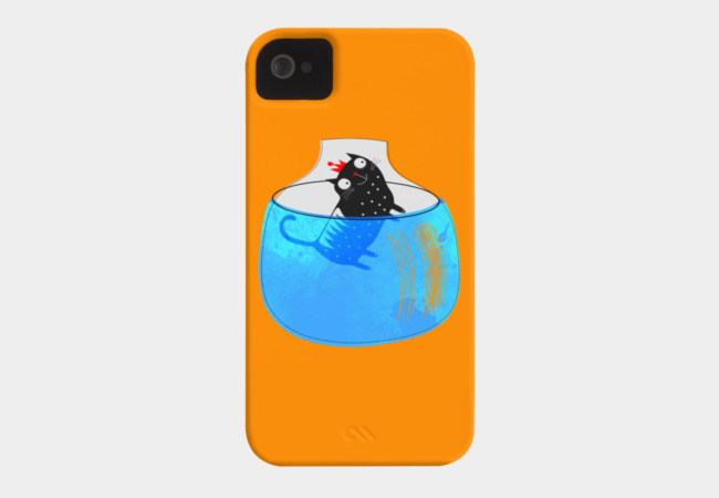 CAT IN A GOLDFISH BOWL Phone Case - Design By Humans