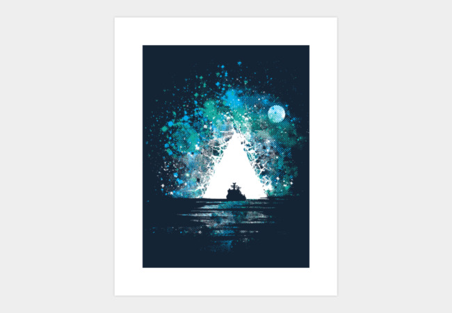 Bermuda Triangle Art Print - Design By Humans