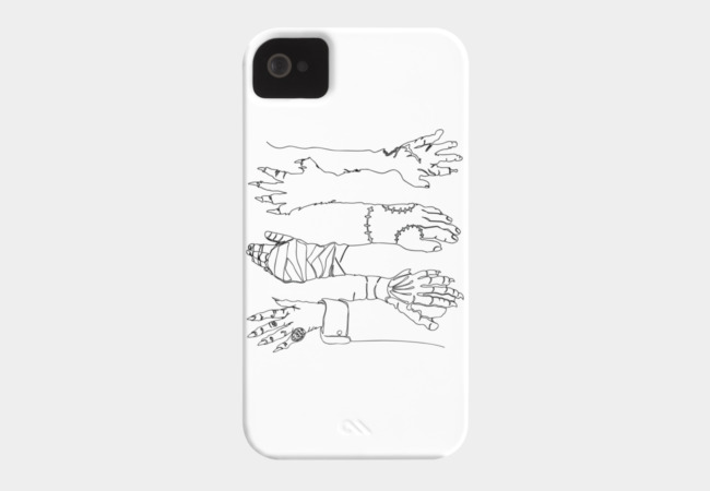 Classic Horror Hands Phone Case - Design By Humans