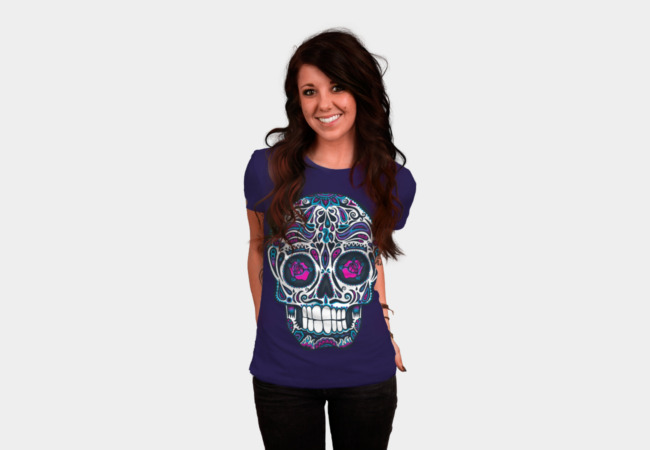 Calavera IV Neon T-Shirt - Design By Humans