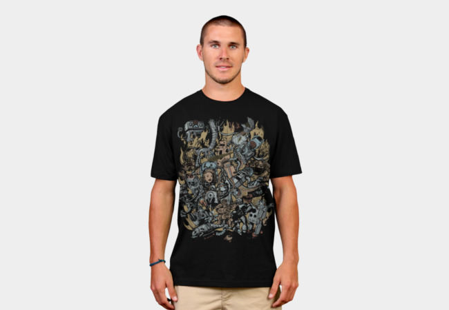 Robot Attack T-Shirt - Design By Humans