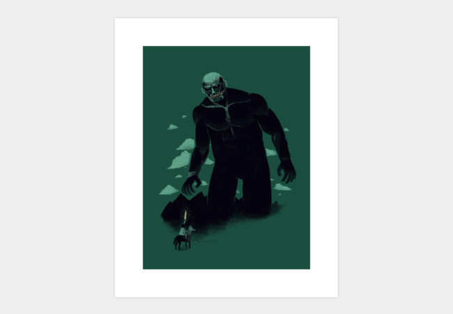shadow of the titan Art Print - Design By Humans