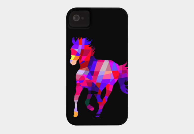Geometric Cool Horse Colorful Design Phone Case - Design By Humans