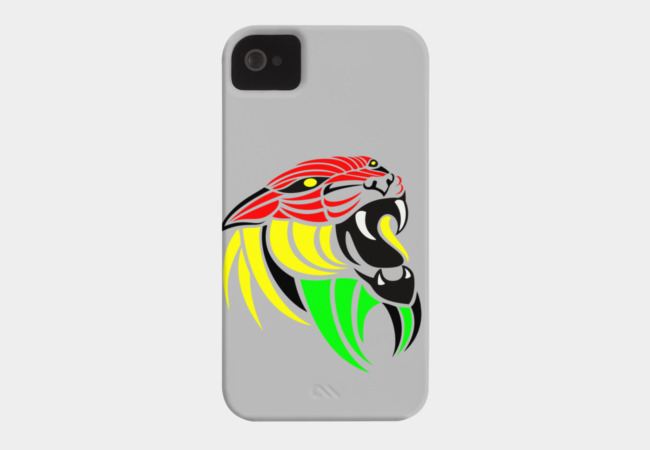 Reggae Music Lion Flag Colors Phone Case - Design By Humans