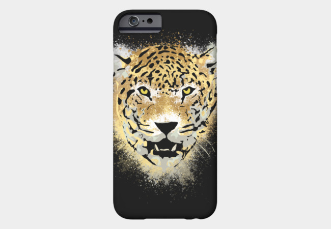 Tiger with Paint Splatters Distressed Design Phone Case - Design By Humans