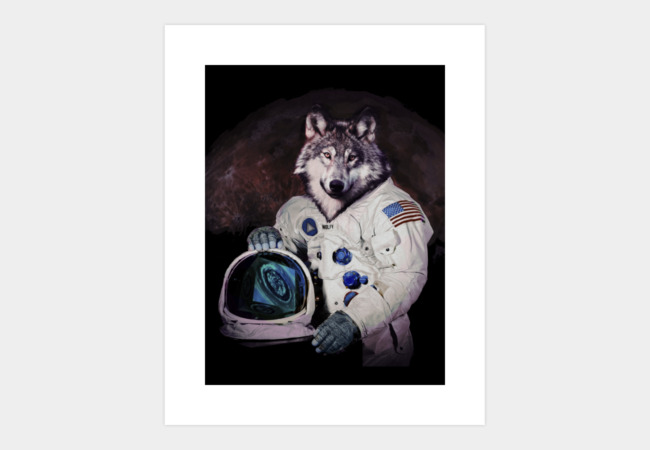 Wolfy goest to Mars Art Print - Design By Humans