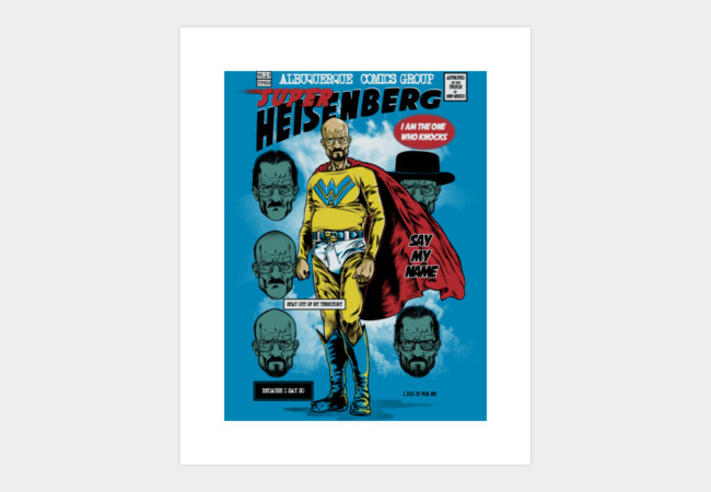 Super Heisenberg Art Print - Design By Humans