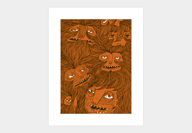 Hairwolves Art Print - Design By Humans