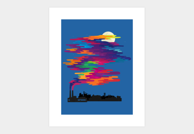 Hidden in the smog (day) Art Print - Design By Humans
