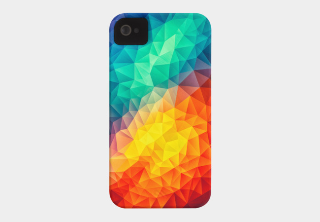 Abstract Multi Color Cubizm Painting Phone Case - Design By Humans