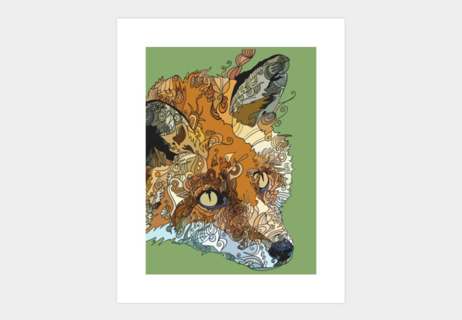 Brother Fox Dreams of Gardens Art Print - Design By Humans
