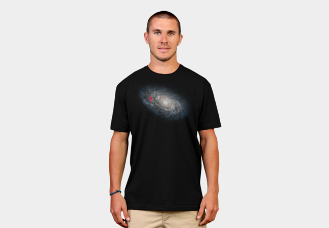 We Are Here! Galactic Location T-Shirt - Design By Humans