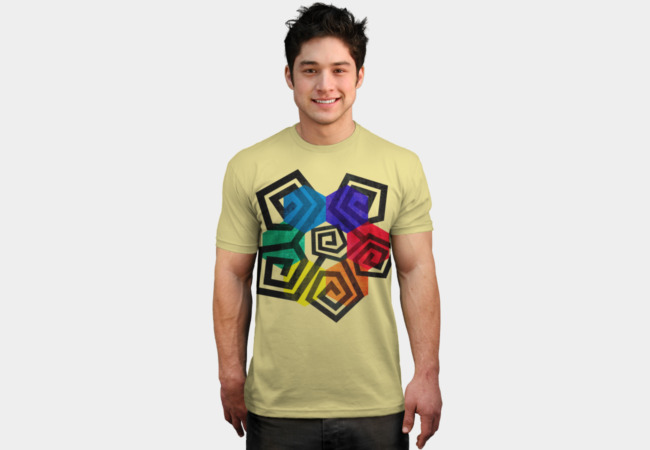 Shapes and Colors Geometric Abstract T Shirt T-Shirt - Design By Humans