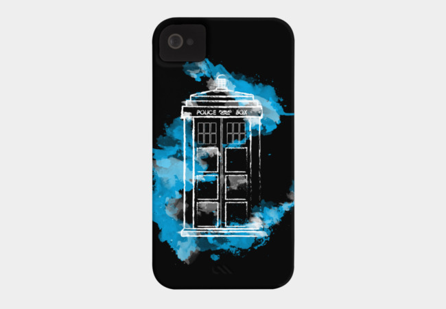Watery TARDIS Phone Case - Design By Humans
