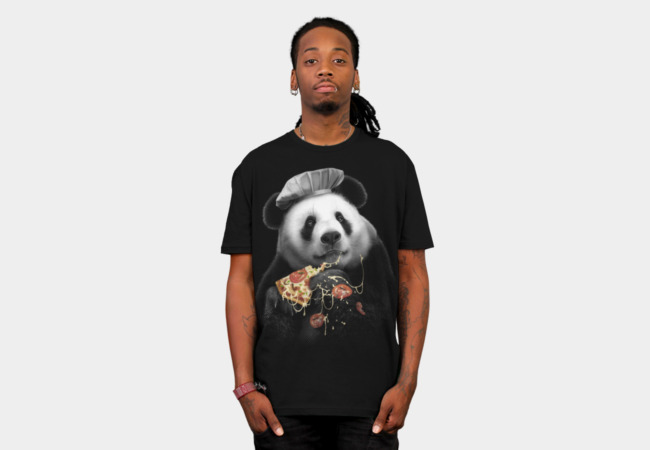 PANDA LOVES PIZZA T-Shirt - Design By Humans
