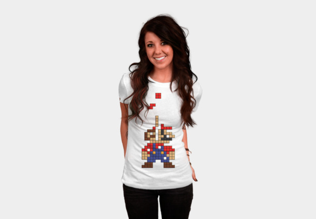 Super Mario Tetris T-Shirt - Design By Humans