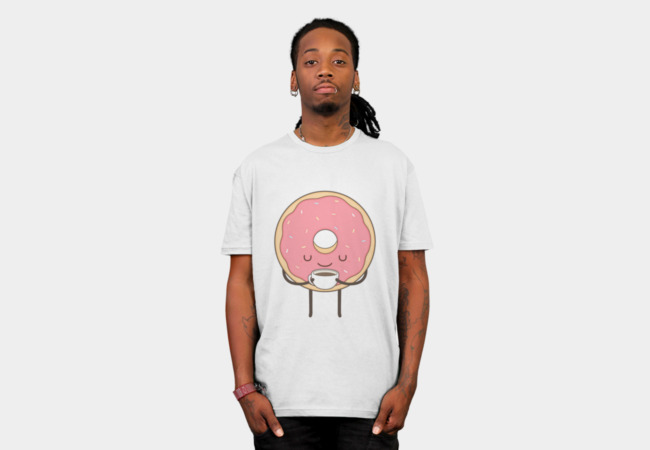 donut loves coffee T-Shirt - Design By Humans