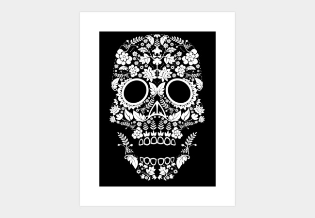 Day of the Dead Skull No11 Art Print - Design By Humans