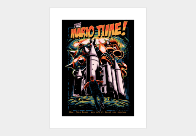 The Mario Time Art Print - Design By Humans