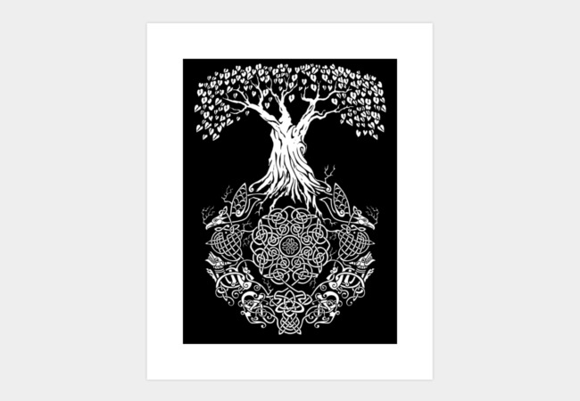 Yggdrasil Tree of Life Art Print - Design By Humans