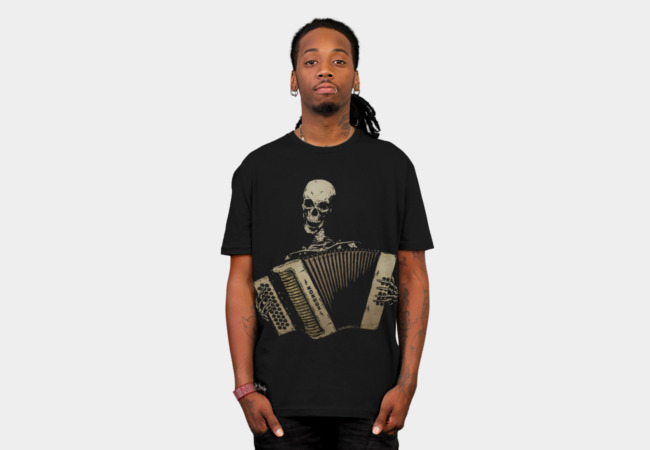 The Piano Accordion Blues T-Shirt - Design By Humans