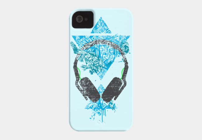 Art Headphones Phone Case - Design By Humans