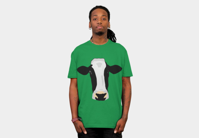 Illustrated Cow T-Shirt - Design By Humans