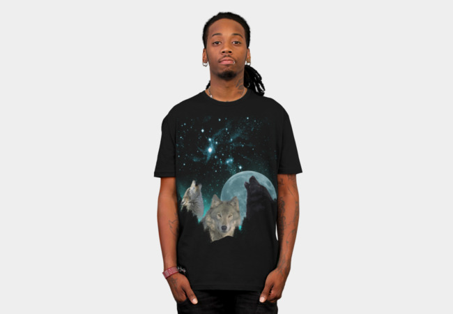 Wolves Mystic MidNight T-Shirt - Design By Humans