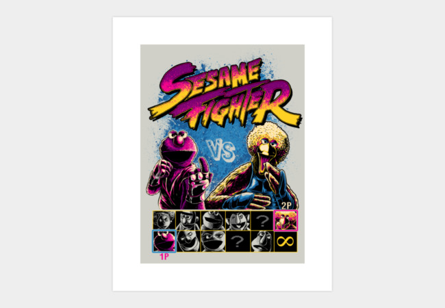 Sesame Fighter Art Print - Design By Humans