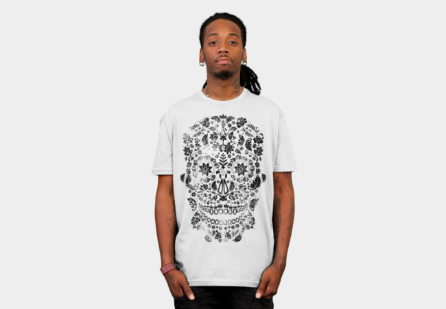 Distressed Day of the Dead Skull T-Shirt - Design By Humans