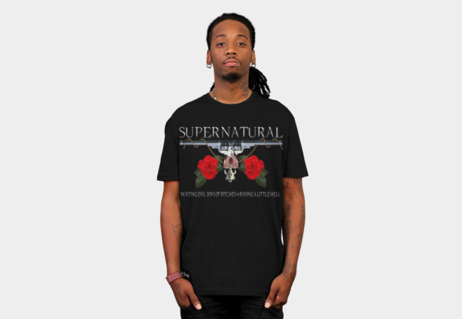 Supernatural hunting evil sons of bitches N raising a little hel T-Shirt - Design By Humans