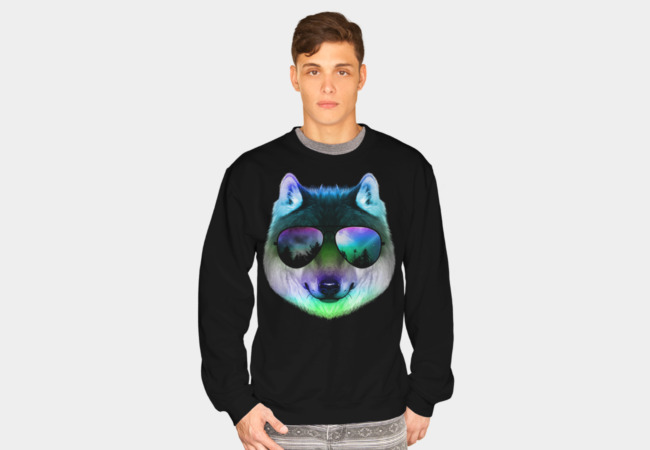 Night Wolf Sweatshirt - Design By Humans
